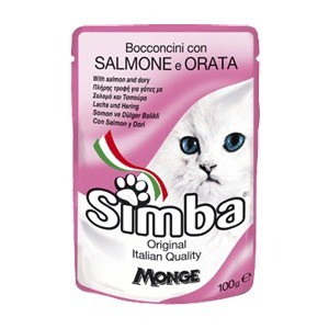 купить Паучи Simba Petfood Cat Chunkies with Salmon and Flatfish с лососем и камбалой паштет для кошек 100г в интернет-магазине
