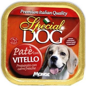 Консервы Special Dog Pate with Veal c телятиной паштет для собак 150г