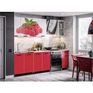 Кухня Миф Малина 2,0 м с фотопечатью ЛДСП гладильная доска ника 10 н10