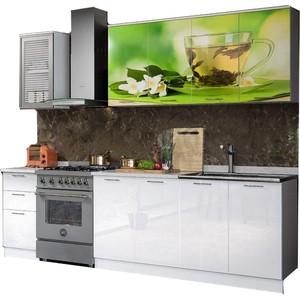 Кухня Миф Чай мята 2,0 м с фотопечатью МДФ