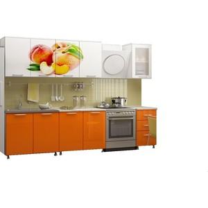 Кухня Миф Персик 2,0 м с фотопечатью МДФ