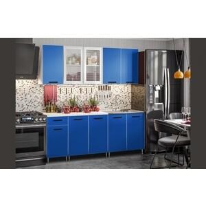 Кухня Миф Синяя 2,0 м ЛДСП цена и фото
