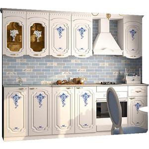 Кухня Миф Лиза, синий цветок, 2.0м
