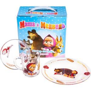 Набор посуды для детей 3 предмета МФК-профит Маша и Медведь Варенье (95590)