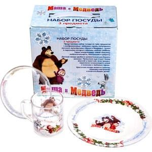 Набор посуды для детей 3 предмета МФК-профит Маша и Медведь Зима (9559013)