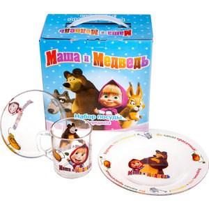 Набор посуды для детей 3 предмета МФК-профит Маша и Медведь Огород (95591)