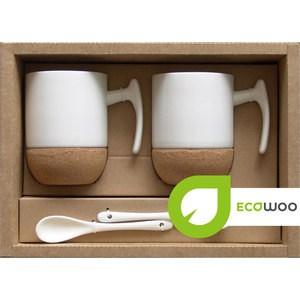 Набор 2 кружки +2 подставки+2 ложки Ecowoo (2012241U) ecowoo