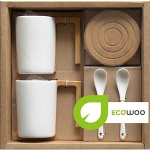 Набор 2 кружки +2 подставки+2 ложки Ecowoo (2012242U)