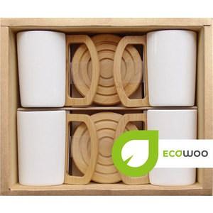 Набор 4 кружки на подставках Ecowoo (2012248U) ecowoo