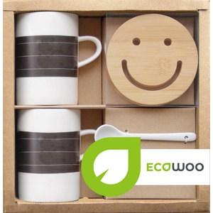 Набор 2 кружки +2 подставки+2 ложки Ecowoo (2012234U) ecowoo