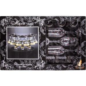 Набор с барной стойкой 19 предметов Гусь Хрустальный Акация (EKR24-160/164/837K БС)