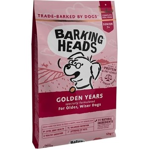 Сухой корм BARKING HEADS Senior Dog Golden Years For Dogs 7 Years+ with Chicken &Trout с курицей и форелью для собак старше 7лет 6кг (0230/18134)
