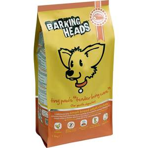 Сухой корм BARKING HEADS Small Breed Tiny Paw's Tender Loving Care Gentle Digestion with Chicken с курицей для собак мелких пород 1,5кг