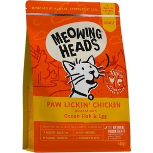 Сухой корм BARKING HEADS Adult Cat Hey Good Looking For Health & Shine with Chicken & Fish с курицей и рыбой для взрослых кошек 1,5кг (2425/20583)