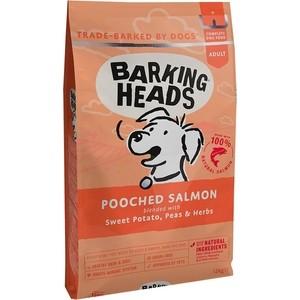 Сухой корм BARKING HEADS Adult Dog Fusspot For the Choosy Diner with Salmon & Potato с лососем и картофелем суета вокруг миски для