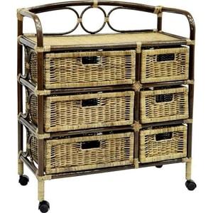 Фотография товара комод с плетеными ящиками EcoDesign 19/08 Б (677186)