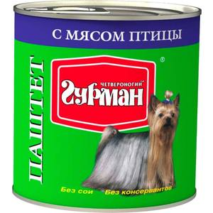 Консервы Четвероногий гурман Паштет с мясом птицы для собак 240г