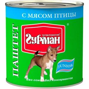 Консервы Четвероногий гурман Паштет Junior с мясом птицы для щенков 240г
