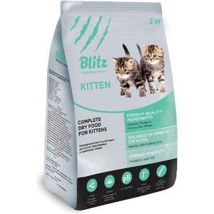 Сухой корм Blitz Petfood Superior Nutrition Kitten с индейкой для котят, беременных и кормящих кошек 2кг для беременных диета
