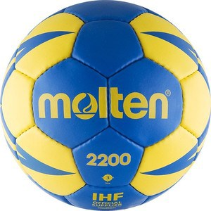 Мяч гандбольный Molten 2200 (H3X2200-BY) р.3 для тренировок h and 3 бомбер эйч энд фри 5707 0419 серый б р