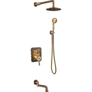 Душевая система ZorG Antic бронза (A 104DS-BR) душевая система коллекция practik 2302660 2f br двухвентильный бронза elghansa эльганза