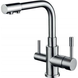 Смеситель для кухни под фильтр ZorG AER сталь (SZR-1339 M) кухонная мойка zorg szr 510 bronze
