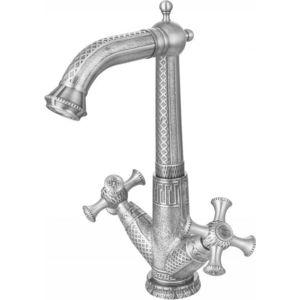 Смеситель для раковины ZorG Antic серебро (A 6010U-SL) душевая система zorg antic серебро a 103ds sl