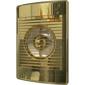 Вентилятор DiCiTi осевой вытяжной с обратным клапаном D 100 декоративный (STANDARD 4C Gold) цена