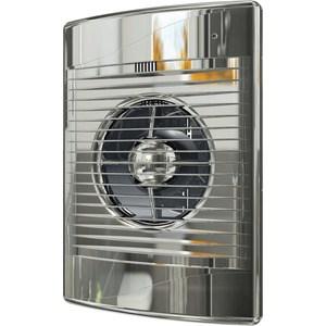 Вентилятор DiCiTi осевой вытяжной с обратным клапаном D125 декоративный (STANDARD 5C Chrome) вентилятор осевой d125 мм cata mt 125 белый