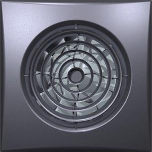 Вентилятор DiCiTi осевой вытяжной с обратным клапаном D 100 декоративный (AURA 4C dark gray metal) hoff by hoff комбинация