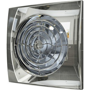 Вентилятор DiCiTi осевой вытяжной с обратным клапаном D 100 декоративный (AURA 4C Chrome)
