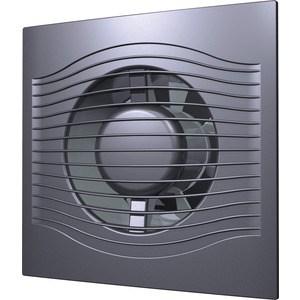 Вентилятор DiCiTi осевой вытяжной с обратным клапаном D 100 декоративный (SLIM 4C dark gray metal)