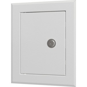 Люк-дверца EVECS ревизионная 310х460 с фланцем 250х400 с замком стальная с покрытием полимерной эмалью (ЛТ2540МЗ)