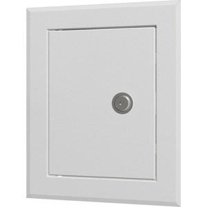 Люк-дверца EVECS ревизионная 360х460 с фланцем 300х400 с замком стальная с покрытием полимерной эмалью (ЛТ3040МЗ)