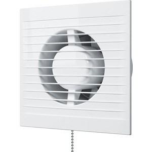 Вентилятор AURAMAX осевой вытяжной с обратным клапаном и тяговым выключателем D 100 (A 4C-02)
