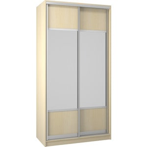 Шкаф Премьер Бостон 1100/2 Дуб кремона песочный Зеркало+Зеркало