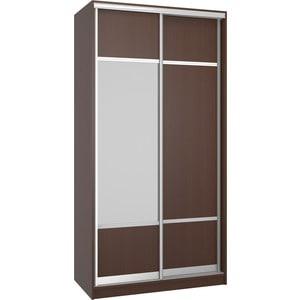 Шкаф Премьер Бостон 1100/1 Бук Тироль Шоколадный ДСП+Зеркало