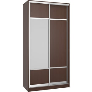Шкаф Премьер Бостон 1100/2 Бук Тироль Шоколадный ДСП+Зеркало