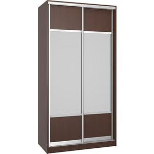 Шкаф Премьер Бостон 1100/2 Бук Тироль Шоколадный Зеркало+Зеркало