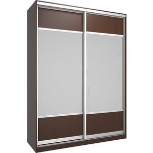 Шкаф Премьер Бостон 1600 Бук Тироль Шоколадный Зеркало+Зеркало