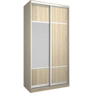 Шкаф Премьер Бостон 1100/2 Дуб Сонома ДСП+Зеркало дверь раздвижная 804х2250мм дсп дуб сонома