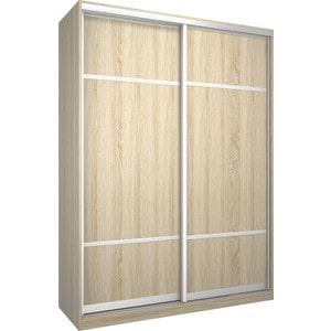 Шкаф Премьер Бостон 1600 Дуб Сонома ДСП+ДСП дверь раздвижная 804х2250мм дсп дуб сонома