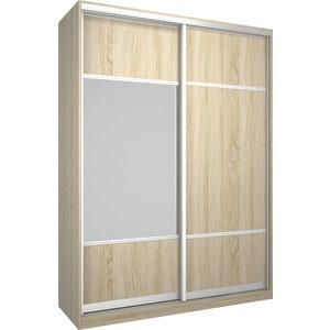 Шкаф Премьер Бостон 1600 Дуб Сонома ДСП+Зеркало дверь раздвижная 804х2250мм дсп дуб сонома