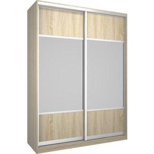 Шкаф Премьер Бостон 1600 Дуб Сонома Зеркало+Зеркало