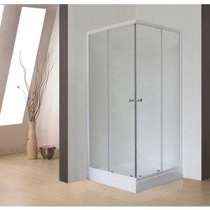 Душевой уголок Royal Bath 90*90*198 стекло шиншилла (RB90HP-C)