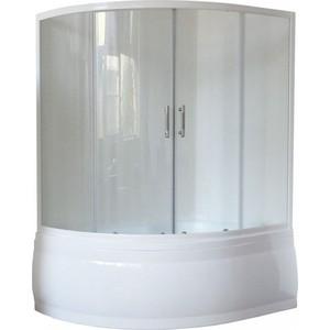 Душевая шторка на ванну Royal Bath Alpine стекло прозрачное (RB140ALP-T)
