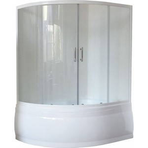 Душевая шторка на ванну Royal Bath Alpine стекло прозрачное (RB140ALP-T) экран для ванны royal bath alpine 170
