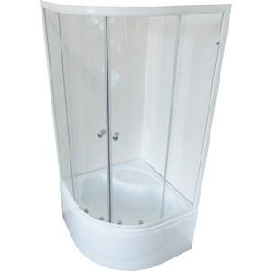 Душевой уголок Royal Bath 100*100*200 стекло прозрачное (RB100BK-T) 100