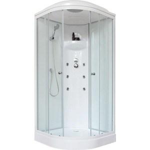 Душевая кабина Royal Bath 100х100х217 стекло белое/прозрачное (RB100HK3-WT) душевая кабина royal bath 120х80х217 стекло левая белое прозрачное rb8120bp3 wt l