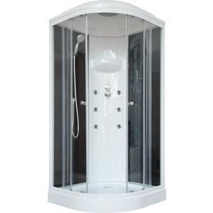 Душевая кабина Royal Bath 100х100х217 стекло черное/прозрачное (RB100HK3-BT)